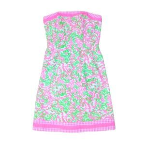 Lilly Pulitzer Felicity Pink & Green Dress Sz 2